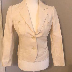 Banana Republic cream linen cotton blazer NWT
